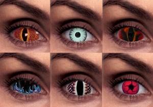 kolorowe soczewki - różne wzory